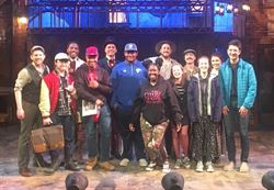 "Edison Theatre cast and crew meet with actors of ""Five Points"" at the Ritz"
