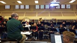 Edison Band Prepares to Perform at Catholic Eldercare