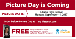 Picture Day is Monday September 11