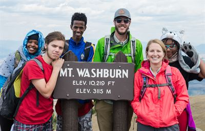 Yellowstone Trip -- Group Photo on top of Mt. Washburn!